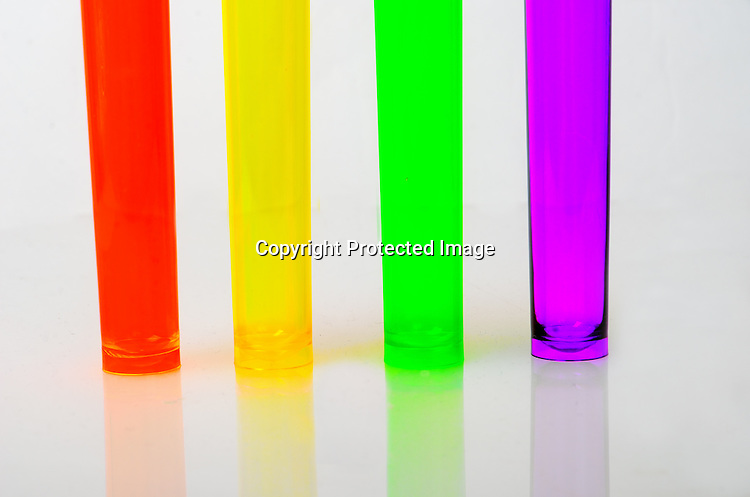 Stock photo of colorful tubes