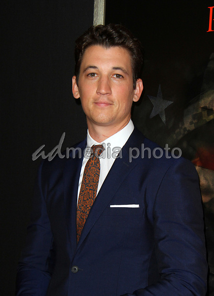 """23 October 2017 - Los Angeles, California - Miles Teller. """"Thank You For Your Service"""" Premiere held at the Regal L.A. Live Theatre in Los Angeles. Photo Credit: AdMedia"""