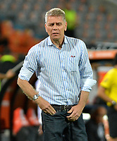 MEDELLÍN - COLOMBIA, 14-02-2019: Paulo Autuori, técnico  de Atlético Nacional de Colombia, durante partido de la segunda fase, llave 6, entre Atlético Nacional (COL) y Deportivo La Guaira (VEN), por la Copa Conmebol Libertadores Bridgestone 2019, en el Estadio Atanasio Girardot, de la ciudad de Medellín. / Paulo Autuori, coach of Atletico Nacional of Colombia, during a match for the second stage, key 6, between Atletico Nacional (COL) and Deportivo La Guaira (VEN), for the Conmebol Libertadores Bridgestone Cup 2019, at the Atanasio Girardot, Stadium, in Medellin city. Photos: VizzorImage / León Monsalve / Cont.