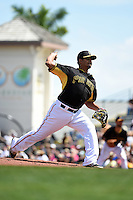 Pittsburgh Pirates pitcher Wilfredo Boscan (69) during a Spring Training game against the Minnesota Twins on March 13, 2015 at McKechnie Field in Bradenton, Florida.  Minnesota defeated Pittsburgh 8-3.  (Mike Janes/Four Seam Images)