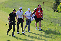 Phil Mickelson (USA) Haotong Li (CHN) and Matthew Fitzpatrick (ENG) walking on to the 8th green during round 1 at the WGC HSBC Champions, Sheshan Golf Club, Shanghai, China. 31/10/2019.<br /> Picture Fran Caffrey / Golffile.ie<br /> <br /> All photo usage must carry mandatory copyright credit (© Golffile | Fran Caffrey)
