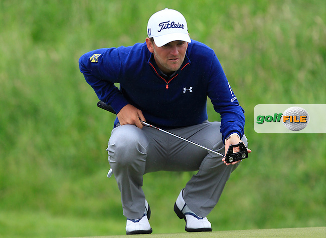 Bernd Wiesberger (AUT) on the 9th green during Round 4 of the 100th Open de France, played at Le Golf National, Guyancourt, Paris, France. 03/07/2016. <br /> Picture: Thos Caffrey   Golffile<br /> <br /> All photos usage must carry mandatory copyright credit   (&copy; Golffile   Thos Caffrey)
