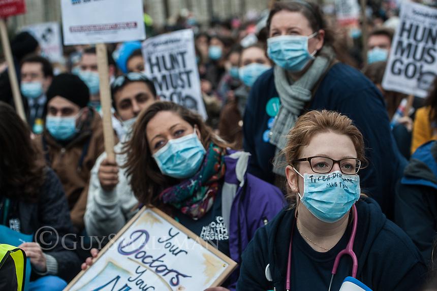 Junior Doctors protest central London 6-2-16