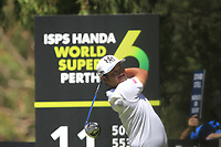 Hideto Tanihara (JPN) in action on the 11th during Round 3 of the ISPS Handa World Super 6 Perth at Lake Karrinyup Country Club on the Saturday 10th February 2018.<br /> Picture:  Thos Caffrey / www.golffile.ie<br /> <br /> All photo usage must carry mandatory copyright credit (&copy; Golffile | Thos Caffrey)