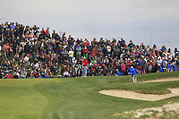 Jon Rahm (ESP) on the 1st green during Round 4 of the Open de Espana 2018 at Centro Nacional de Golf on Sunday 15th April 2018.<br /> Picture:  Thos Caffrey / www.golffile.ie<br /> <br /> All photo usage must carry mandatory copyright credit (&copy; Golffile | Thos Caffrey)