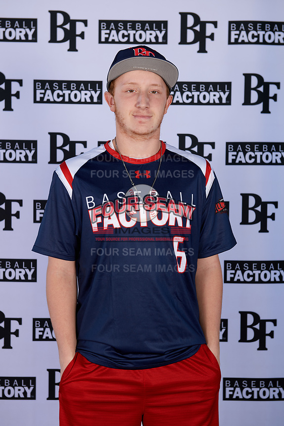 Tyler Elliott (6) of Jeannette Sr High in Greensburg, Pennsylvania during the Baseball Factory All-America Pre-Season Tournament, powered by Under Armour, on January 12, 2018 at Sloan Park Complex in Mesa, Arizona.  (Mike Janes/Four Seam Images)