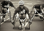 Navy Wounded Warrior, Selemani Johnson, following track competition during the 2011 Warrior Games, U.S. Olympic Training Center, Colorado Springs, CO.