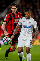 Saturday March 18 2017 <br /> Pictured: Luciano Narsingh Swansea City in action <br /> RE: Premier League match between AFC Bournemouth and Swansea City at Vitality Stadium Bournemouth, England