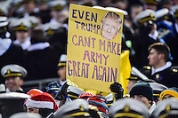 Baltimore, MD - DEC 10, 2016: Navy fans are fired up before the game between Army and Navy at M&T Bank Stadium, Baltimore, MD. (Photo by Phil Peters/Media Images International)
