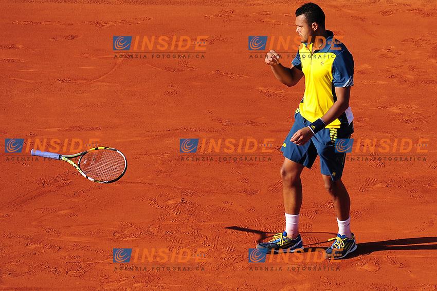 Jo Wilfried Tsonga (fra) <br /> Parigi 7/6/2013<br /> Tennis Roland Garros <br /> Foto Panoramic / Insidefoto<br /> ITALY ONLY