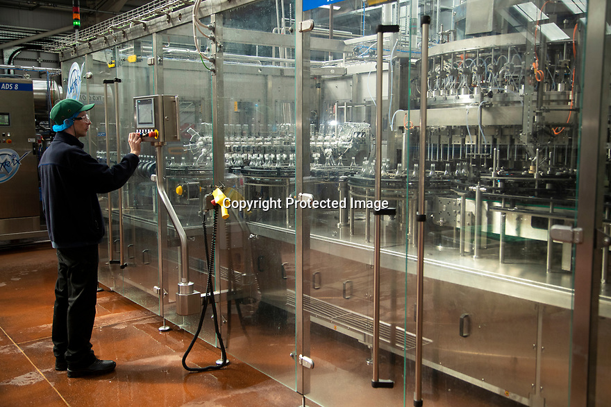 04/05/17<br /> <br /> New bottling machine.<br /> <br /> Belvoir Fruit Farms – a Truly Blossoming Business<br /> <br /> Belvoir Fruit Farms has appointed the UK's first Elderflower Manager to help source more elderflowers and to grow it better in their own 90 acres of plantations, near Grantham, Lincolnshire.  The £25.2m turnover, family owned soft drinks producer, has been making its award winning Elderflower Cordial for 35 years and in 2018 saw sales of it grow by over 20%.  Yesterday saw the first large infusion of its Organic Elderflower Cordial for 2019 made using elderflowers from blossoms grown in its own plantations and picked by the local community.<br />  <br /> Belvoir currently fills 25-30 million bottles a year across its full range, catering for a robust domestic market and an export market encompassing 36 countries.  Growth in demand for Belvoir drinks has necessitated the business recently investing £1.3million in a new rinser, filler and capper machine as well as a new palletiser and automatic wrapper which has increased efficiencies, has dramatically reduced the company's waste and has the potential to double the factory's production capacity.<br />  <br /> All Rights Reserved, F Stop Press Ltd +44 (0)7765 242650 www.fstoppress.com rod@fstoppress.com