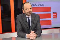 EDOUARD PHILIPPE-ENREGISTREMENT DE L' EMISSION ' PREUVES PAR 3 ' DIFFUSE SUR PUBLIC SENAT