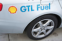 A close up of an Audi car promoting Shell's GTL fuel (GTL stands for gas to liquids) and high fuel efficiency. The car took part in Audi's Mileage Marathon from New York to Los Angeles in October 2008. The was put on to demonstrate Audi's TDI system featuring ultra low emissions and high fuel efficiency.