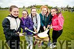 Pictured at Gaelcholáiste Chiarraí Sports Day in aid of Jigsaw Kerry, held at Na Gael Clubhouse, Tralee on Friday morning last., were l-r: Anna Ní Scannláin, Aileen Ní Dhubhlainn, Gráinne Ní Mhóchoir, Clodagh Ní Chonchúir and Imogen Ní Chonchúir.