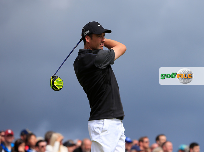 Ross FISHER (ENG) tees off the 17th tee during Sunday's Round  of the 144th Open Championship, St Andrews Old Course, St Andrews, Fife, Scotland. 19/07/2015.<br /> Picture Eoin Clarke, www.golffile.ie