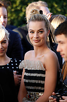 Margot Robbie attends the 23rd Annual Critics' Choice Awards at Barker Hangar in Santa Monica, Los Angeles, USA, on 11 January 2018. Photo: Hubert Boesl - NO WIRE SERVICE - Photo: Hubert Boesl/dpa /MediaPunch ***FOR USA ONLY***