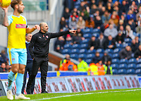 Rotherham United manager Paul Warne shouts instructions to his team from the technical area<br /> <br /> Photographer Alex Dodd/CameraSport<br /> <br /> The EFL Sky Bet Championship - Blackburn Rovers v Rotherham United - Saturday 10th November 2018 - Ewood Park - Blackburn<br /> <br /> World Copyright &copy; 2018 CameraSport. All rights reserved. 43 Linden Ave. Countesthorpe. Leicester. England. LE8 5PG - Tel: +44 (0) 116 277 4147 - admin@camerasport.com - www.camerasport.com