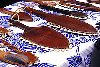 Traditional Hawaiian weapons such as these lei o mano ( shark tooth weapons) are made from wood of native trees.