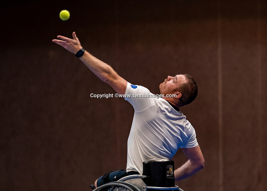 Alphen aan den Rijn, Netherlands, December 16, 2018, Tennispark Nieuwe Sloot, Ned. Loterij NK Tennis, Final wheelchair men: Maikel Scheffers (NED)<br /> Photo: Tennisimages/Henk Koster