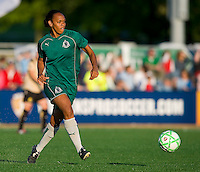 St Louis Athletica defender Kia McNeill (6) handles the ball against FC Gold Pride during a WPS match at Korte Stadium, in St. Louis, MO, May 9 2009.  St. Louis Athletica won the match 1-0.