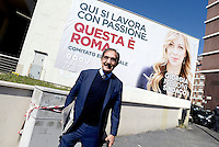 Roma 6 Maggio 2016<br /> Ignazio La Russa davanti il cartellone elettorale.<br /> Presentazione delle liste a sostegno di Giorgia Meloni a Sindaca di Roma<br /> ROME, ITALY - May 06: <br /> Ignazio La Russa posing in front of an electoral billboard.<br /> Presentation of the lists in support of Giorgia Meloni to mayor of Rome at the headquarters of the electoral campaign, on May 6, 2016 in Rome, Italy.