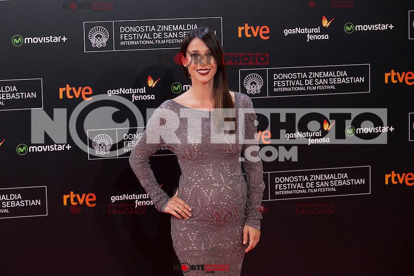 Spanish actress Barbara Goenaga poses before 63rd Donostia Zinemaldia opening ceremony (San Sebastian International Film Festival) in San Sebastian, Spain. September 18, 2015. (ALTERPHOTOS/Victor Blanco) /NortePhoto.com