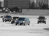SMG_President Barack Obama_FLXX_Leaving_092012_25.JPG<br /> <br /> MIAMI, FL - SEPTEMBER 20: US President Barack Obama departs on Air Force One at Miami International Airport.  The  President is in Florida to participate in a taping for Univision in Miami before attending a campaign event in Tampa.  on September 20, 2012 in Miami, Florida. (Photo By Storms Media Group)  <br /> <br /> People:  President Barack Obama<br /> <br /> Transmission Ref:  FLXX<br /> <br /> Must call if interested<br /> Michael Storms<br /> Storms Media Group Inc.<br /> 305-632-3400 - Cell<br /> 305-513-5783 - Fax<br /> MikeStorm@aol.com