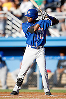 July 4, 2009:  Jonathan Fernandez of the Auburn Doubledays at bat during a game at Dwyer Stadium in Batavia, NY.  The Doubledays are the NY-Penn League Short-Season Class-A affiliate of the Toronto Blue Jays.  Photo by:  Mike Janes/Four Seam Images