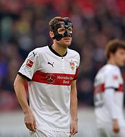 11.02.2018,  Football 1.Liga 2017/2018, 22. match day,  VfB Stuttgart - Borussia Moenchengladbach, in Mercedes-Benz-Arena Stuttgart. Christian Gentner (Stuttgart) . *** Local Caption *** © pixathlon