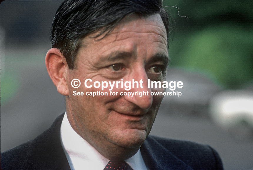 Jim Gibbons, aka James Gibbons, TD, Minister for Agriculture, Fianna Fail, Rep of Ireland, 1978000076JG.<br />