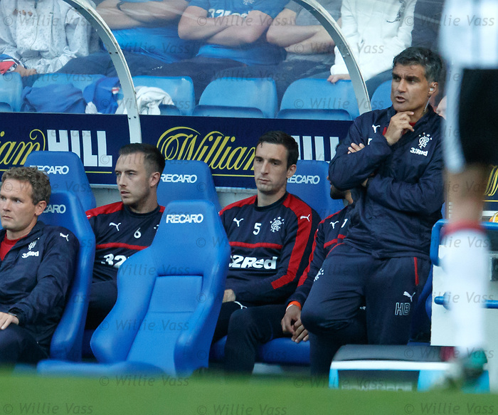 Lee Wallace on the bench