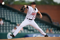 Richmond Flying Squirrels relief pitcher Caleb Baragar (38) during an Eastern League game against the Binghamton Rumble Ponies on May 29, 2019 at The Diamond in Richmond, Virginia.  Binghamton defeated Richmond 9-5 in ten innings.  (Mike Janes/Four Seam Images)