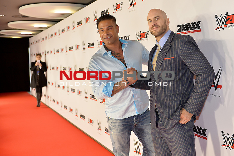 03.11.2016, Olympia Halle, Muenchen, GER, WWE Live Event, Wrestling,  <br /> <br /> <br /> Tim Wiese + Cesaro <br /> <br />  ++++ Attention ++++  ALL RIGHTS RESERVED Kein -Facebook -Twitter -Instagram -Social Web Honorar und Belegexemplar Star People <br /> <br /> Foto &copy; nordphoto / BenPAKALSKI