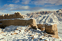 """Tucked at the edge of the Karakoram Mountains, the ruins of the Stone City are located at the north side of Taxkorgan (Tashgorgan) in the Tajik Autonomous County. Taxkorgan which means """"the stone castle"""" in the Uyghur language was located at the main junction of the middle and south sections of the ancient Silk Road. This is one of the most famous stone castles in Chinese history and is the gateway between China and Pakistan along the Karakoram Highway."""