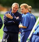 Walter Smith and Stale Stensaas at training, June 1997