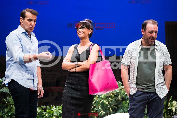 "Luis Merlo, Itziar Atienza and Antonio Molero during the theater play ""El Test"" at Teatro Cofidis in Madrid. September 15, Spain. 2016. (ALTERPHOTOS/BorjaB.Hojas) /NORTEPHOTO"