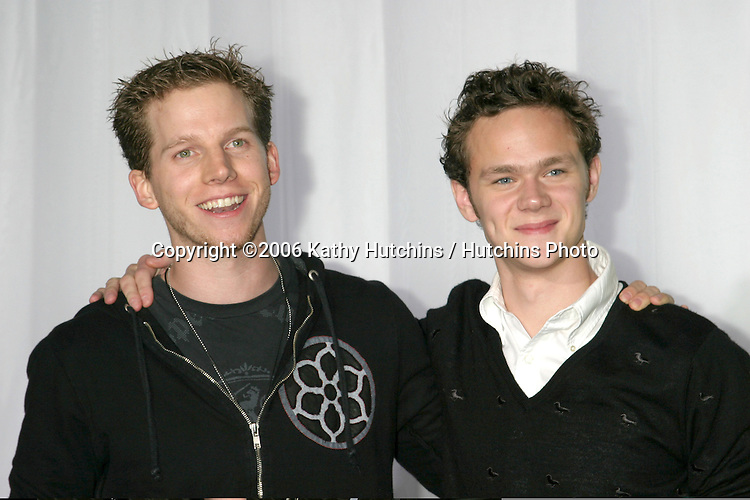 Stark Sands &  Joseph Cross.Moto 8 Party.Palladium .Los Angeles, CA.November 2, 2006.©2006 Kathy Hutchins / Hutchins Photo....                 .