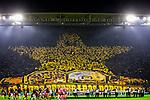 05.11.2019, Signal Iduna Park, Dortmund , GER, Champions League, Gruppenphase, Borussia Dortmund vs Inter Mailand, UEFA REGULATIONS PROHIBIT ANY USE OF PHOTOGRAPHS AS IMAGE SEQUENCES AND/OR QUASI-VIDEO<br /> <br /> im Bild | picture shows:<br /> Fans auf der Suedtribuene | Gelbe Wand praesentieren eine Choreographie, <br /> <br /> Foto © nordphoto / Rauch
