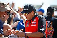 Jul 24, 2016; Morrison, CO, USA; NHRA funny car driver Cruz Pedregon during the Mile High Nationals at Bandimere Speedway. Mandatory Credit: Mark J. Rebilas-USA TODAY Sports