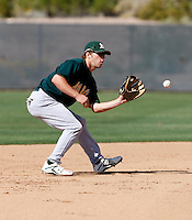 Dusty Coleman - Oakland Athletics - 2009 spring training.Photo by:  Bill Mitchell/Four Seam Images