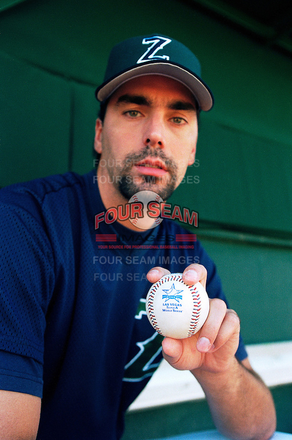 John Halama of the New Orleans Zephyrs during the 1998 AAA Championship Series against the Buffalo Bison at Cashman Field in Las Vegas, Nevada. (Larry Goren/Four Seam Images)