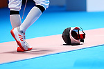 General view, <br /> AUGUST 19, 2018 - Fencing : <br /> Men's Individual Epee Round of 16 <br /> at Jakarta Convention Center Cendrawasih <br /> during the 2018 Jakarta Palembang Asian Games <br /> in Jakarta, Indonesia. <br /> (Photo by Naoki Nishimura/AFLO SPORT)