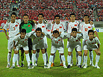 Players of Vietnam Team line up and pose for a photo prior to their AFF Suzuki Cup 2008 Semi-Finals 2nd leg match between Singapore and Vietnam at National Stadium on 21 December 2008, in Kallang, Singapore. Photo by Stringer / Lagardere Sports