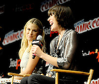 "NEW YORK, NY - OCTOBER 07:  Mila Jovovich and Ali Larter attends  ""Resident Evil: The Final Chapter"" panel at New York ComiCcon at the Theater in Madison Square Garden on October 7, 2016. Photo by: John Palmer/ MediaPunch"