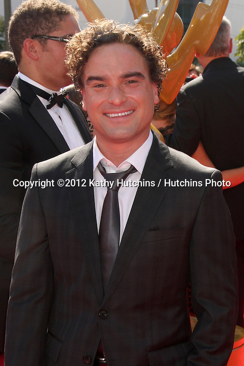 LOS ANGELES - SEP 15:  Johnny Galecki arrives at the  Primetime Creative Emmys 2012 at Nokia Theater on September 15, 2012 in Los Angeles, CA