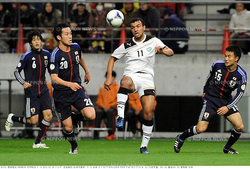 Maya Yoshida (JPN), Bahodir Nasimov (UZB),.FEBRUARY 29, 2012 - Football / Soccer :.2014 FIFA World Cup Asian Qualifiers Third round Group C match between Japan 0-1 Uzbekistan at Toyota Stadium in Aichi, Japan. (Photo by Takamoto Tokuhara/AFLO)