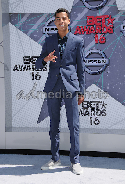 26 June 2016 - Los Angeles. Marcus Scribner. Arrivals for the 2016 BET Awards held at the Microsoft Theater. Photo Credit: Birdie Thompson/AdMedia