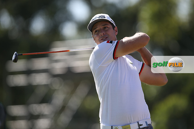 Julien Quesne (FRA) plays tee shot to the 8th during Round Two of the Africa Open 2015 at the East London Golf Club, East London, Eastern Cape, South Africa. Picture:  David Lloyd / www.golffile.ie. 06/03/2015