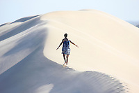 Peaceful and zen moment at Sundays River Sand Dunes in South Africa.