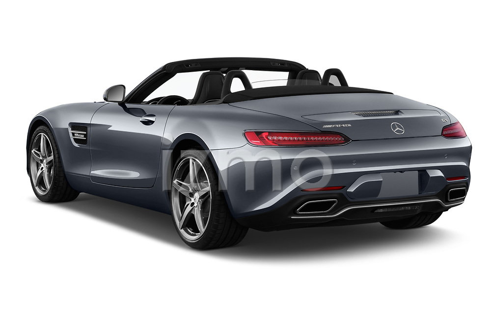 Car pictures of rear three quarter view of a 2019 Mercedes Benz AMG GT base 2 Door Roadster angular rear